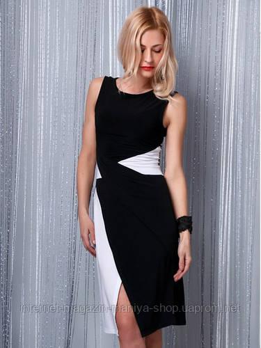 Платье женское разрез