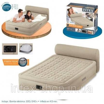 Кровать со спинкой и встроенным насосом Queen Headboard, Intex 64460, фото 2