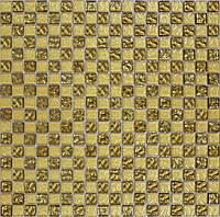 Мозаика Grand Kerama 300x300 шахматка рельефное золото-золотой песок 443
