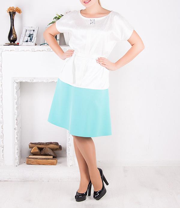"""Стильная юбка-трапеция """"Ванда"""", размерный ряд от 46 по 62"""
