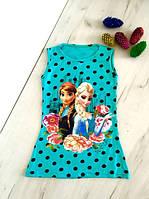 Детская футболка, туника на девочку Эльза