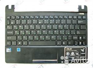 Клавиатура для ноутбука ASUS (X101 series Keyboard+передняя панель) rus, black