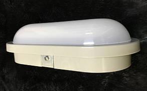 Светодиодный cветильник для ЖКХ GLOBAL HPL-004-E 12W накладной 5000K овал серый IP65 Код.58645, фото 2