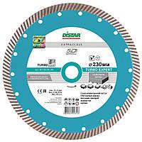 Круг алмазный Distar Turbo Expert 230мм, отрезной диск с 12мм алмазным слоем для резки бетона