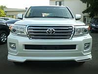 Накладка переднего бампера Toyota Land Cruiser 200