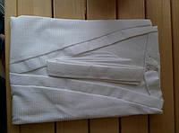 Халат белый вафельный для бани, салонов и гостиниц xL
