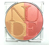 Пудра-румяна для лица  Diorskin Paradise Duo Pink Glow 001 Nude Tan (тестер)