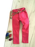 Детские брюки, штаны розовые на девочку