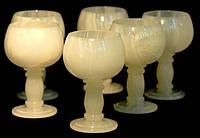 Набор бокалов для вина, Н16см, 6 шт, Изделия из оникса, Днепропетровск