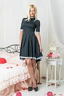 Платье женское асиметрия + кружево