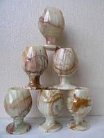 Набор рюмок, оникс, Н6,4х3,8 см, 6 шт,  Днепропетровск, фото 1