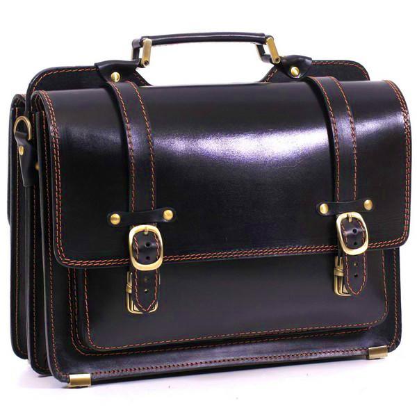 Шкіряний портфель СПС-4 чорний