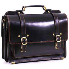 Кожаный портфель СПС-4 черный
