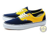 Легкие Кеды унисекс ( низкие, лёгкие ) Vans The Era Sneaker in Golden Coast Dress Blues & Spectra Yellow