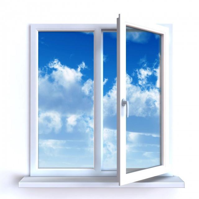 Окно металлопластиковое двухстворчатое 1300х1400 мм, фото 1