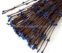 Гибкая веточка с тычинками цена за 10 шт. синие тычинки Длина 40 см.