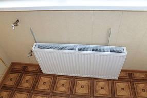 Установили экономный обогреватель. Это обязательное условие при совмещении лоджии с жилым помещением, чтобы на лоджии и в комнате было достаточно тепло.