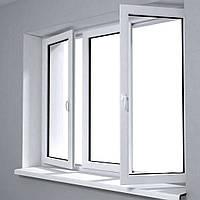 Окно металлопластиковое трехстворчатое 2000х1400 мм