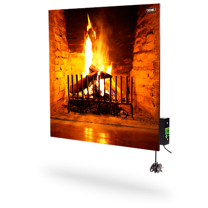 Керамическая панель DIMOL Standart 03 с терморегулятором (рисунок), 370 Вт, фото 2