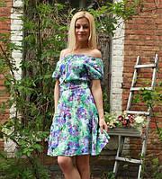 Платье женское на плечи цветы
