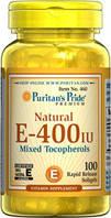 Витамин Е, натуральный антиоксидант, Е-400, Puritan's Pride, 100 капсул
