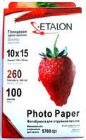 Фотобумага Etalon 260г/м2, A6, упаковка 100шт, глянцевая