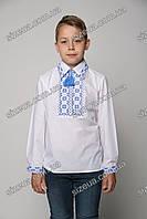 Детская Вышиванка Остап синяя
