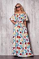 Привлекательное модное платье с бабочками