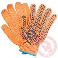 Перчатка хлопчатобумажная с резиновым вкраплением с одной стороны (ПВХ star) INTERTOOL SP-0135