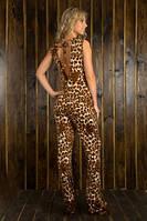 Брючный комбинезон леопард