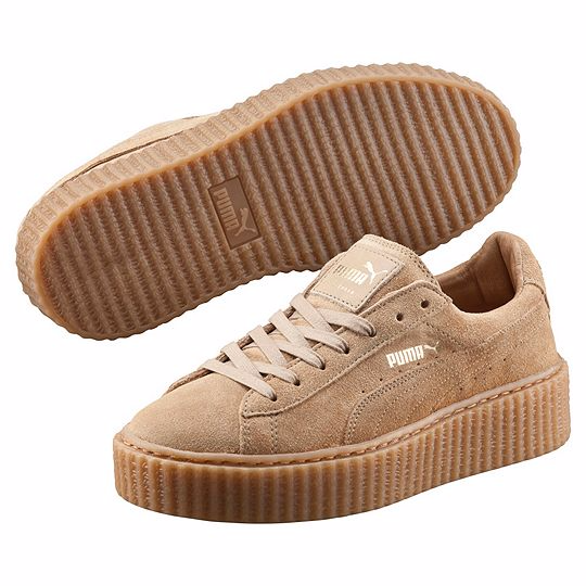 Кроссовки женские замшевые Puma Rihanna Creeper Wheat