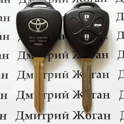 Корпус для автоключа TOYOTA Camry, Avalon (Тойота Камри, Авалон) 3 кнопки , лезвие TOY43, фото 2