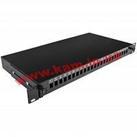 Патч-панель 24 порти під 24 адаптери SC Simplex/ LC Duplex, пуста,1U, каб.вводи для (UA-FOPE24SCS-B)