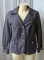 Жакет офисный модный серый Yessica р.52 6876а, фото 1