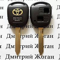 Корпус авто ключа Toyota Avensis, Yaris (Тойота Авенсис, Ярис) 2 кнопки, лезвие TOY47