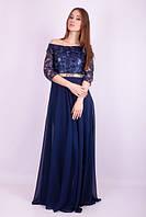 Платье женское пояс- камни Сваровски в пол
