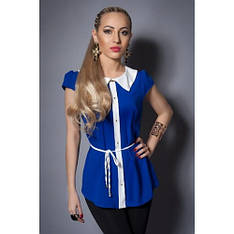 Шифоновая блуза короткий рукав