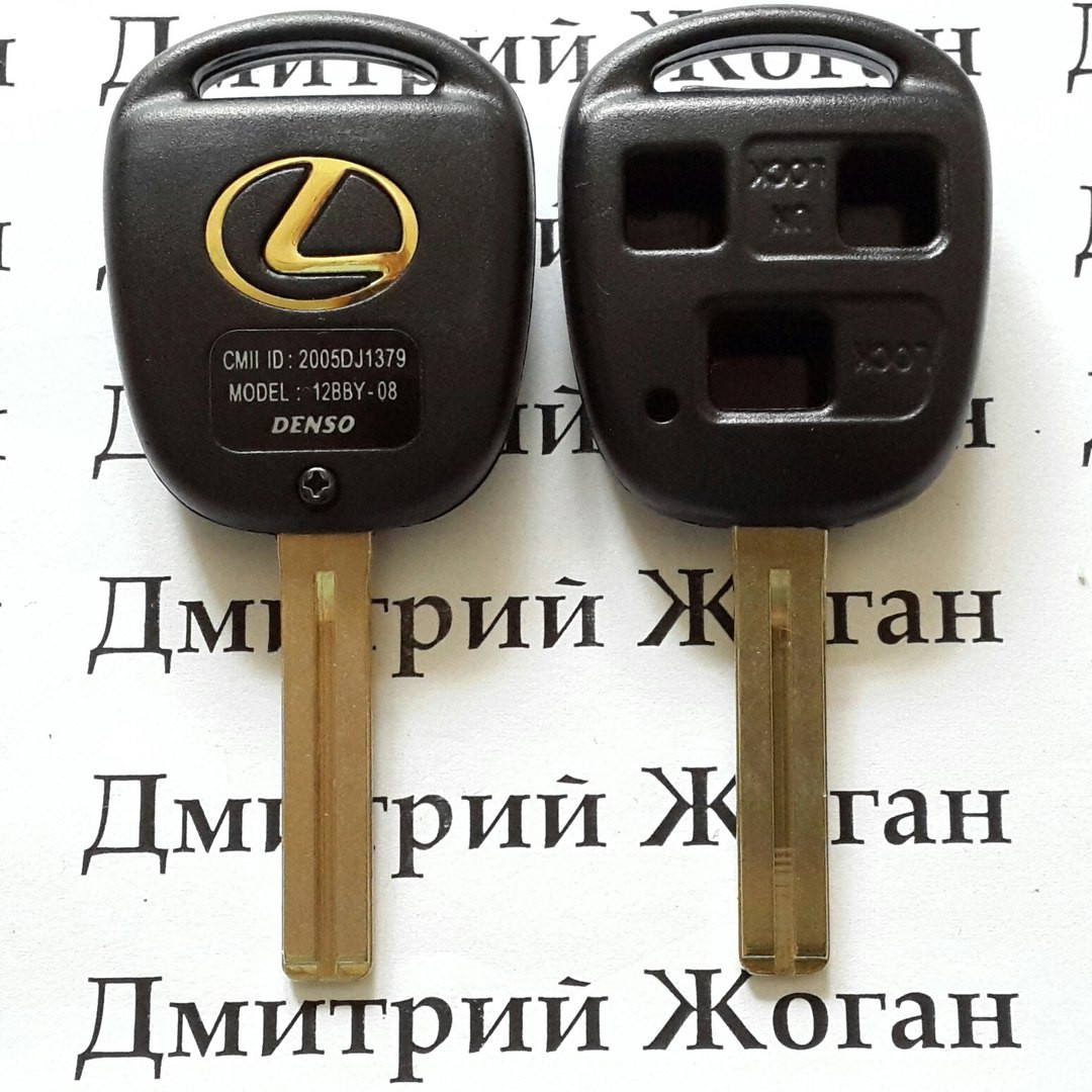 Корпус ключа LEXUS (Лексус) RX, GX, LX, IS, GS, ES, LS, SC - 3 кнопки, лезвие  TOY48