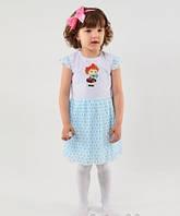Красивое летнее детское платье на девочку, хлопок, шифон, р. 92,98,104.