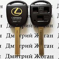 Корпус для ключа LEXUS (Лексус)  3 - кнопки, лезвие  TOY40