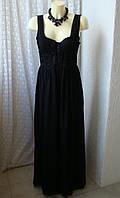 Платье черное вечернее в пол H&M р.46 6864а