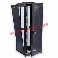 """Шкаф 19"""" 42U, 800х865 мм (Ш*Г), усиленный, перфорированные двери (66%), черный (UA-MGSE4288PB)"""