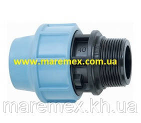Муфта сполучна з зовнішньою різьбою (НР) 20х1/2 (100) - Santehplast