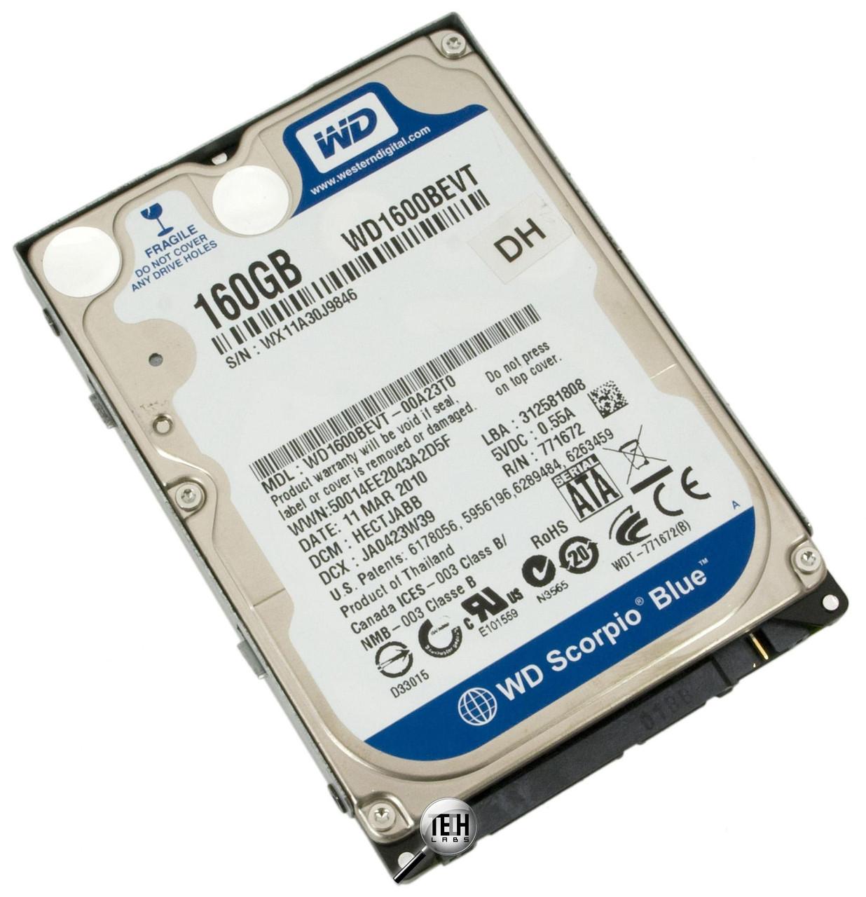 """Вінчестер для ноутбука 160GB SATA, 2.5"""" б/у"""