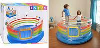 Надувной батут INTEX Inflatable Jump-O-Lene Transparent Ring Bounce Kids Bouncer