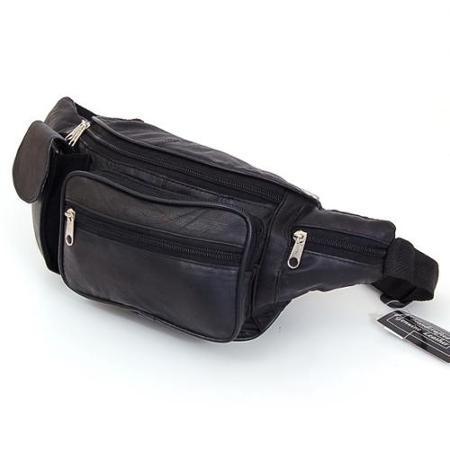 Поясная кожаная сумка с карманом для  телефона