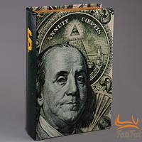 "Книга сейф на замке ""Доллар"""