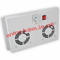 2-х вентиляторный блок с выключателем и термостатом, Audax, серый (FAN2M-Gr)