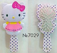 Расческа  для девочки массажная детская Hello Kitty 18см