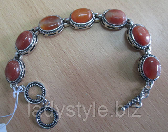 купить украшения с натуральным сердоликом браслет  серьги украшения